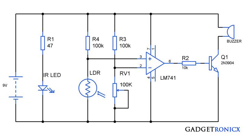 Simple Car Wiring Diagram together with Anti Theft Alarm Circuit Ic 741 additionally Fire Alarm Circuit also Csza also 704rq1. on simple burglar alarm circuit diagram