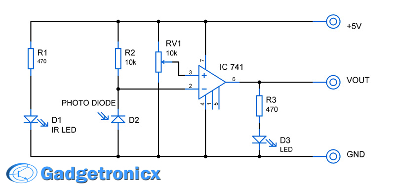 infrared sensor module circuit gadgetronicx rh gadgetronicx com circuit diagram of ir sensor using lm358 circuit diagram of ir sensor using lm358