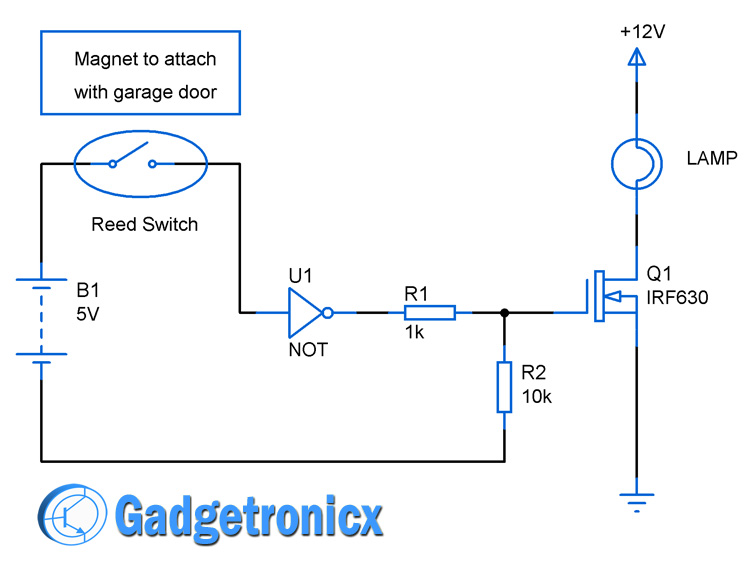 Automated Garage Door Lights Circuit Gadgetronicx