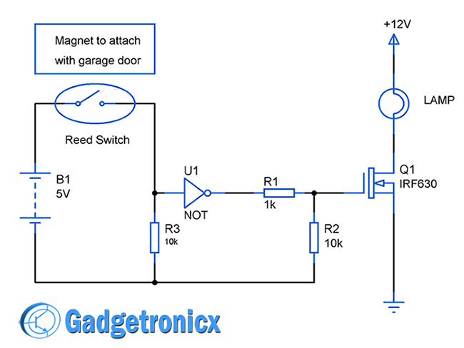 auto-garage-door-lights-circuit-diagram