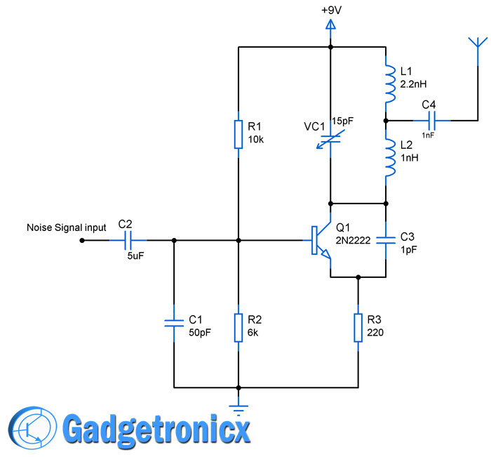 transceiver circuits archives gadgetronicx rh gadgetronicx com rf transceiver circuit diagram infrared transceiver circuit diagram