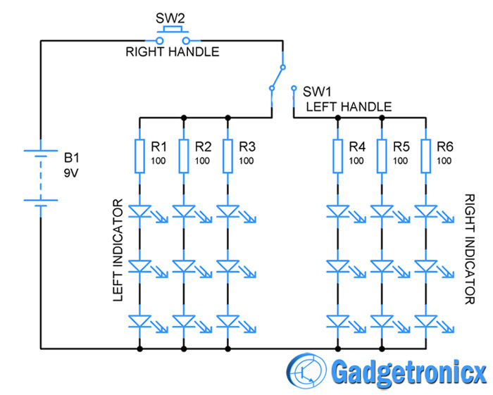bicycle lights circuit bicycle turn indicator lights circuit diagram gadgetronicx light circuit diagram at fashall.co