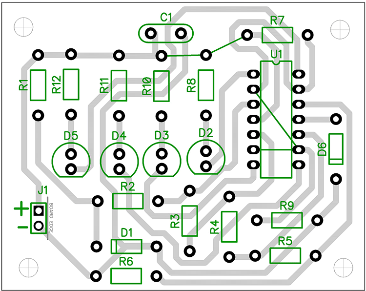 battery-charge-indicator-pcb-design