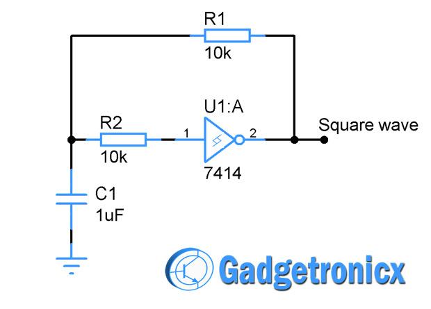 square-wave-generator-schmitt-inverter