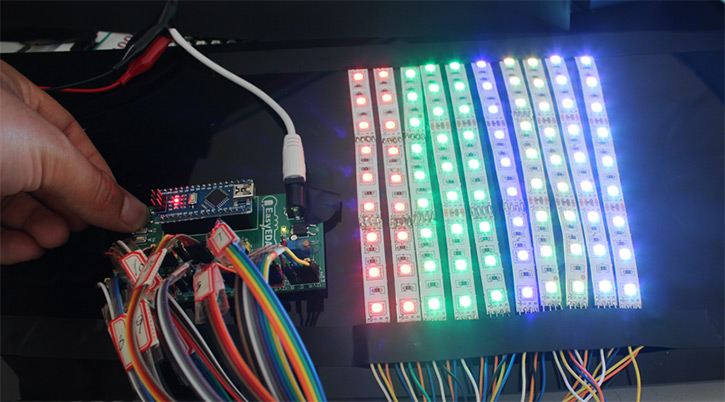 Stunning rgb light effects using arduino nano gadgetronicx Cool things to do with led strips