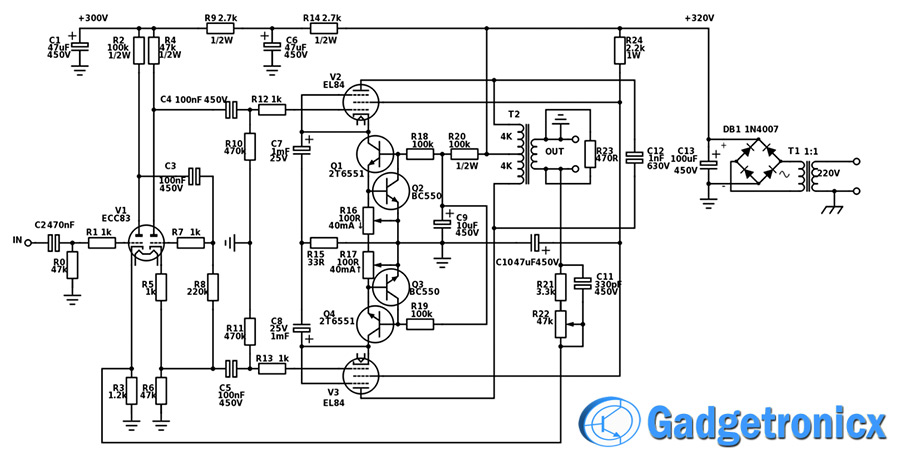 17 Watt Hi-Fi Vacuum Tube Amplifier - Gadgetronicx Wiring Diagram For A Vacuum Tube Radio on vacuum tube schematic diagram, vacuum cleaner wiring diagram, vacuum pump wiring diagram, vacuum tube heater diagram, t8 tube wiring diagram,