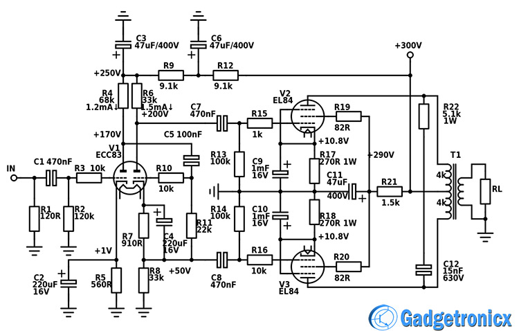 push-pull-amplifier-vacuum-tube