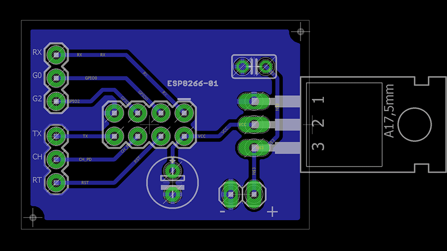 esp8266-01-pcb-design