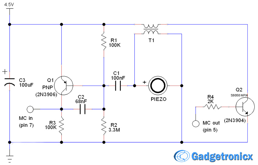 door-window-alarm circuit