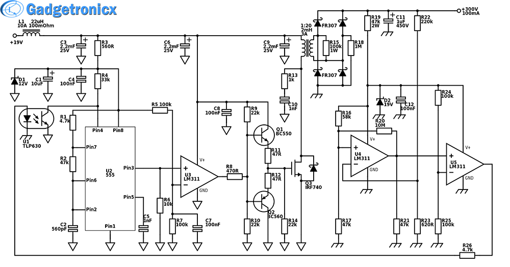 high power boost converter circuit diagram