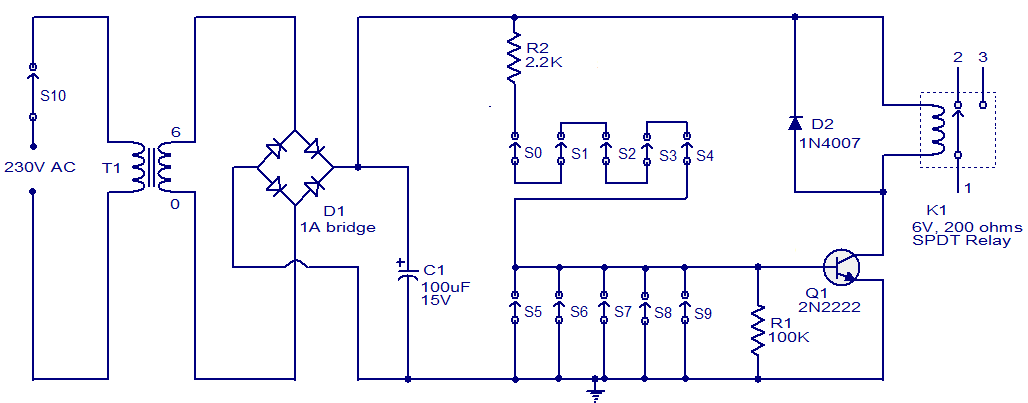 transistor wiring diagram code lock circuit using transistor gadgetronicx  code lock circuit using transistor