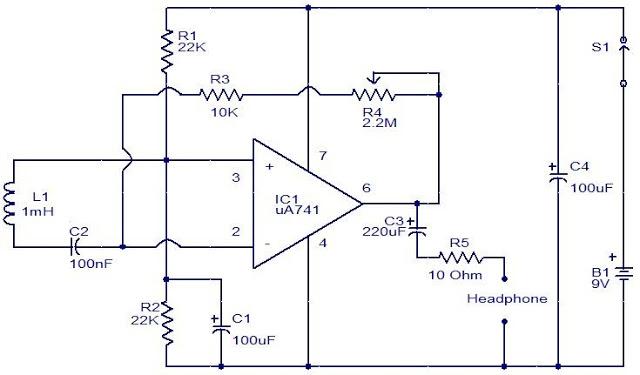 EMF sensor circuit using Opamp - Gadgetronicx on