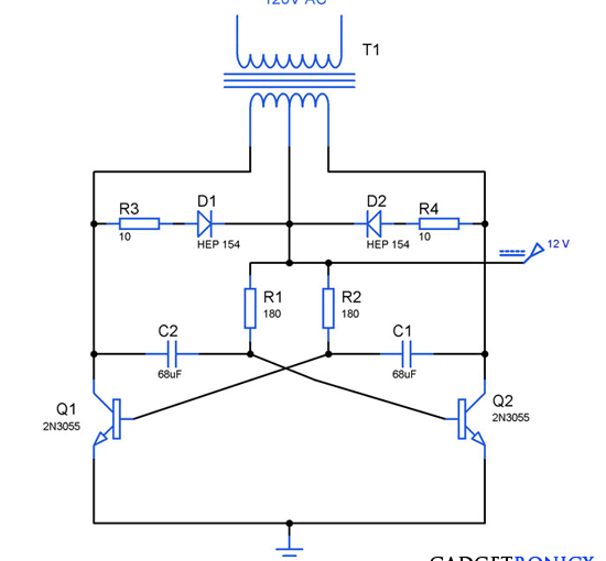 Inverter Circuits Archives - Gadgetronicx