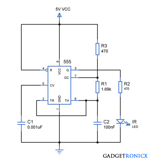 People or Object counter Circuit diagram using IC 555 and IC