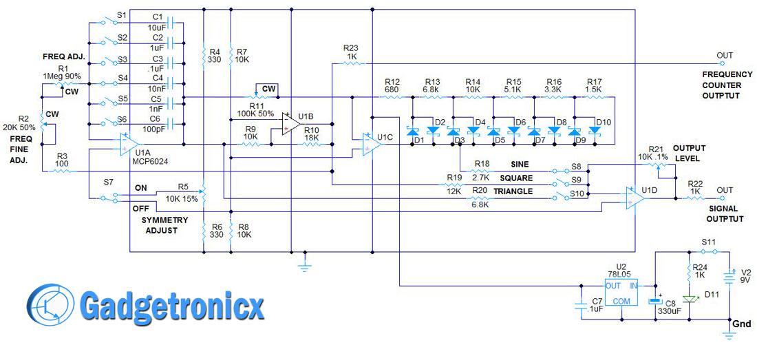 Diy Waveform Generator Using Avr Microcontroller Schematic - Your