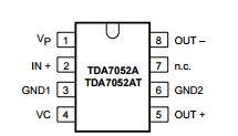 mini audio amplifier circuit using ic tda7052