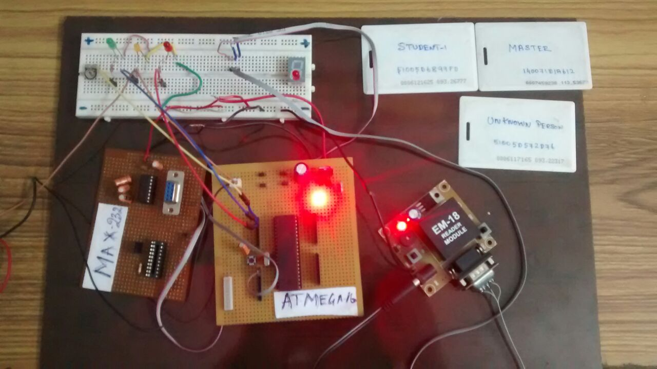 Rfid Based Security System Using Avr Atmega32 Microcontroller Usb To Serial Converter Enabled
