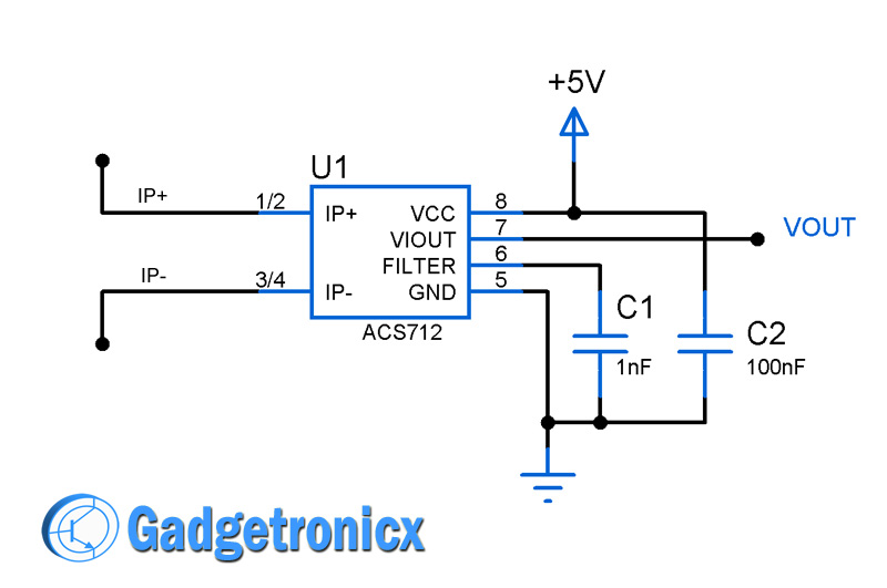 current sensor switch circuit gadgetronicx Current Sensing Relay Schematic