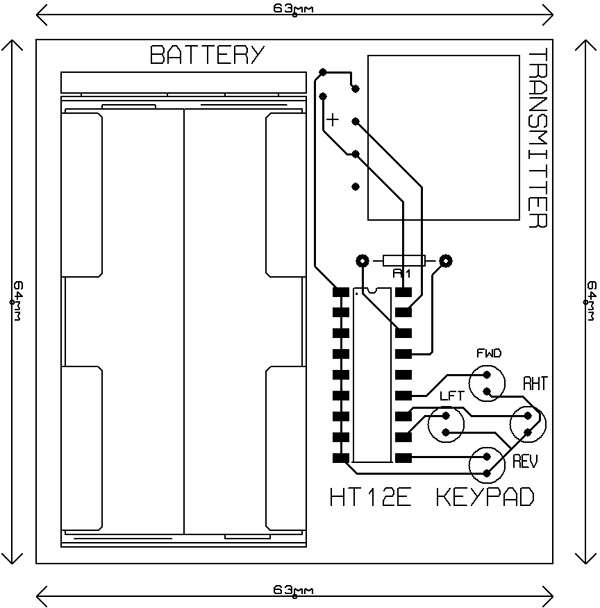 pcb-layout-rc-car-remote