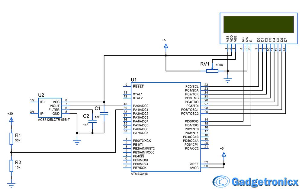 voltamp meter volt amp meter using avr microcontroller gadgetronicx