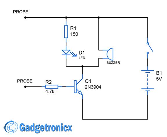 continuity-tester-circuit-diagram