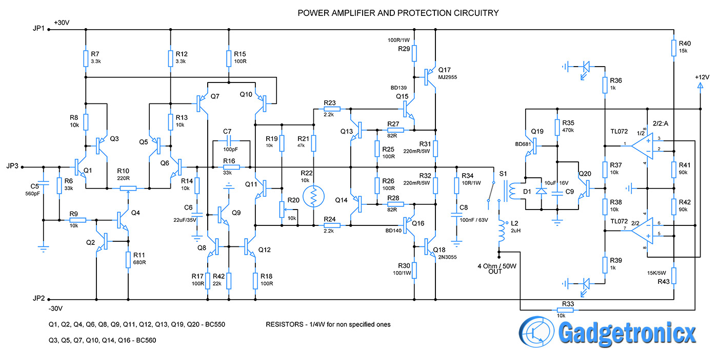 power-audio-amplifier-circuit