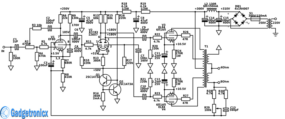 vacuum-tube-amplifier-circuit