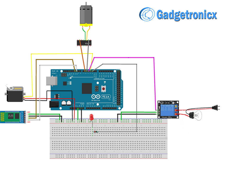 voice controlled home automation using arduino gadgetronicx Software Wiring Diagram voice controlled home automation arduino schematic diagram