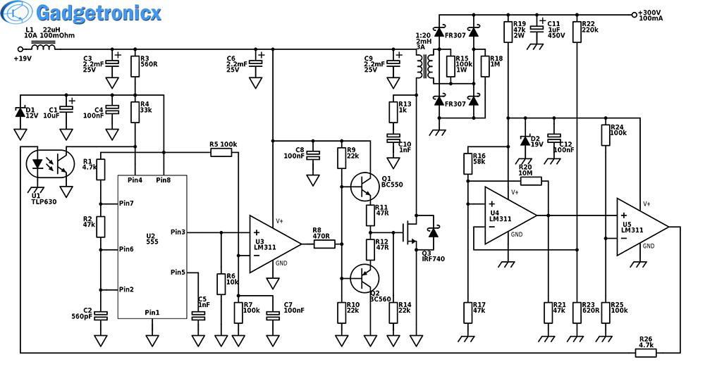 Fantastic High Power Boost Converter Circuit Diagram Gadgetronicx Wiring Digital Resources Ommitdefiancerspsorg