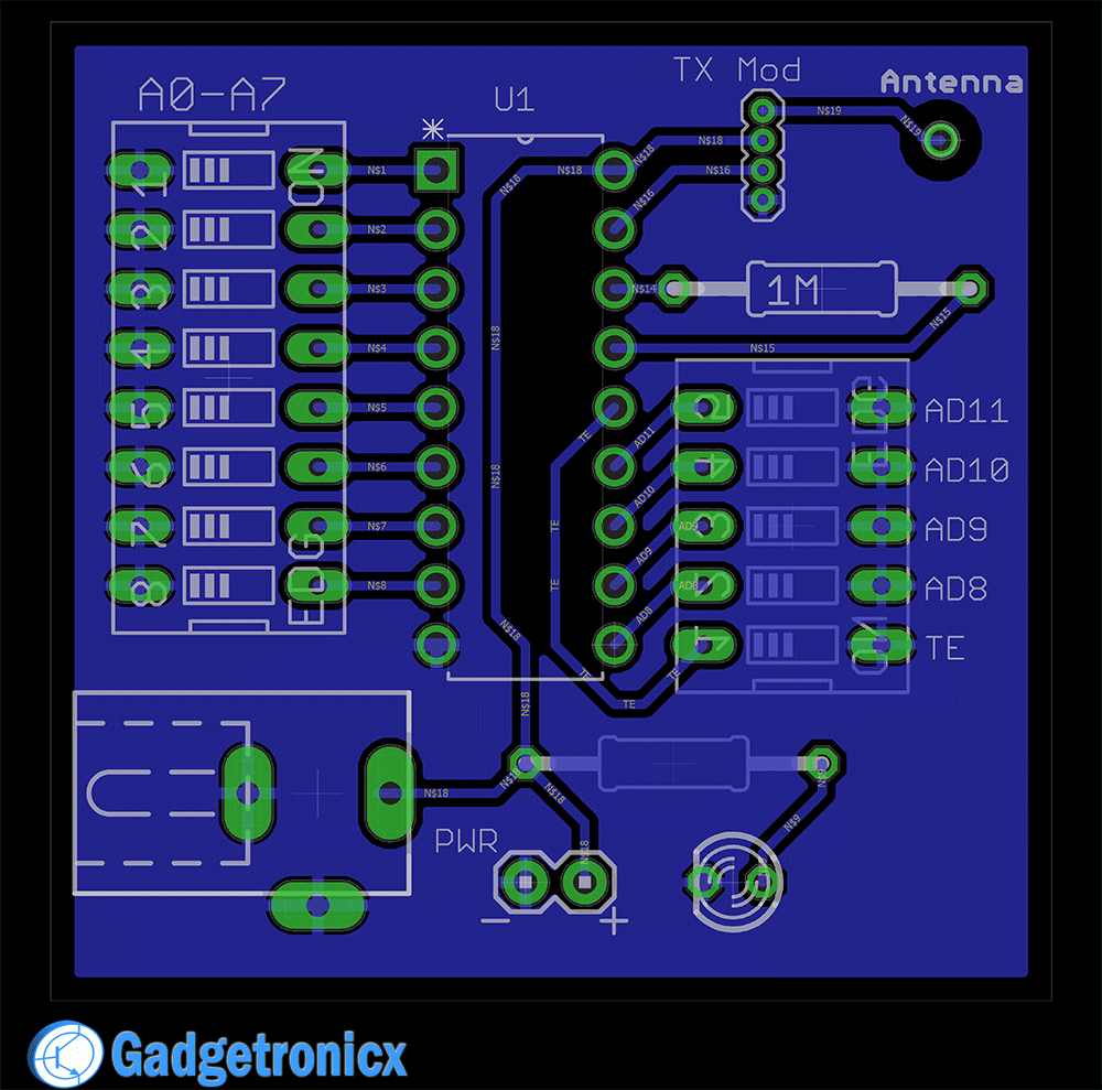 Making A 4 Channel Rf Remote Pcb Design Included Gadgetronicx Relay Circuit Software Tx