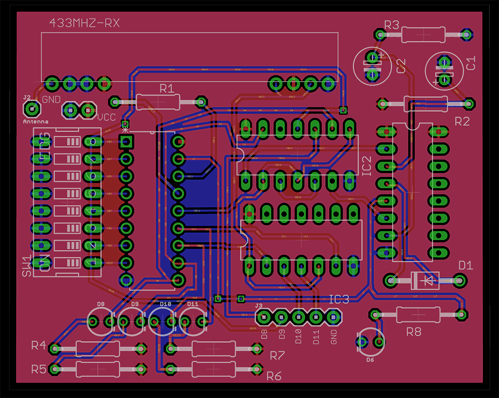 Making a 4 channel RF remote ( PCB design included