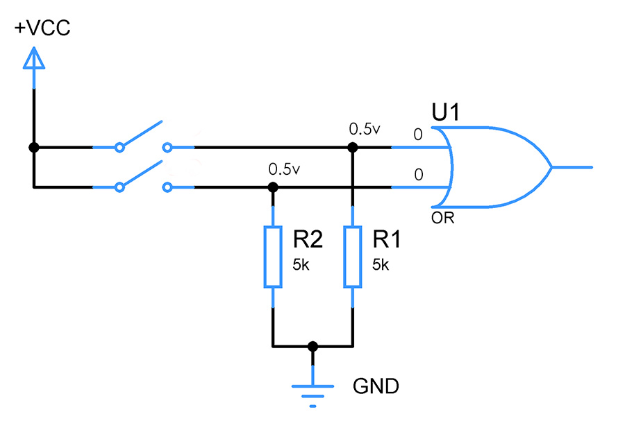 pull-down-resistor-values
