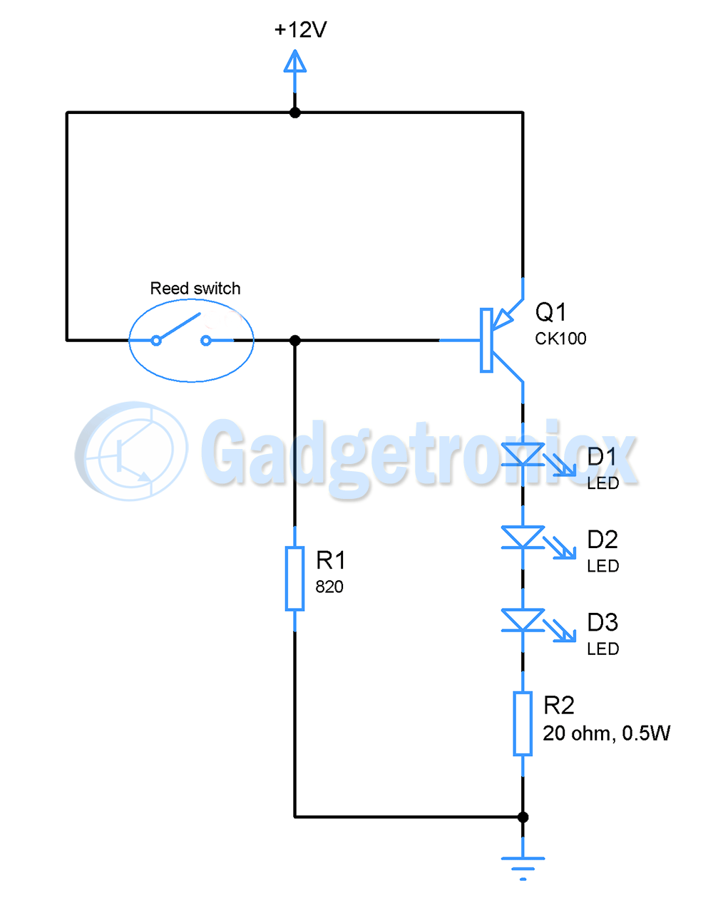 Gadgetronicx Electronics Circuit Diagrams And Embedded Programming 555 Timer Photo Alarm Cupboard Lights