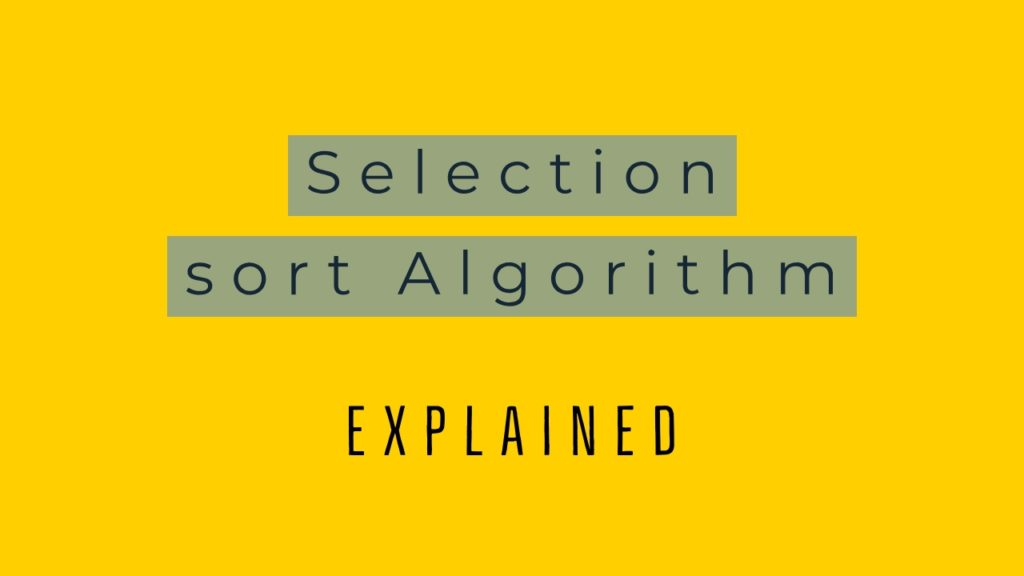 selection-sort-algorithm-explained