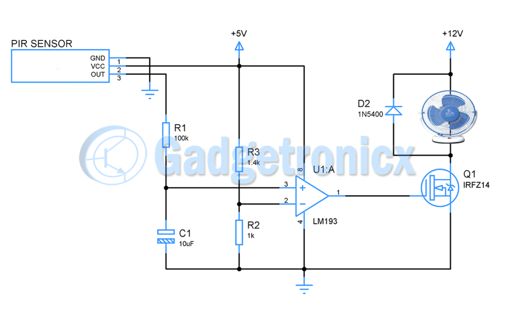 motion-sensor-fan-circuit-diagram