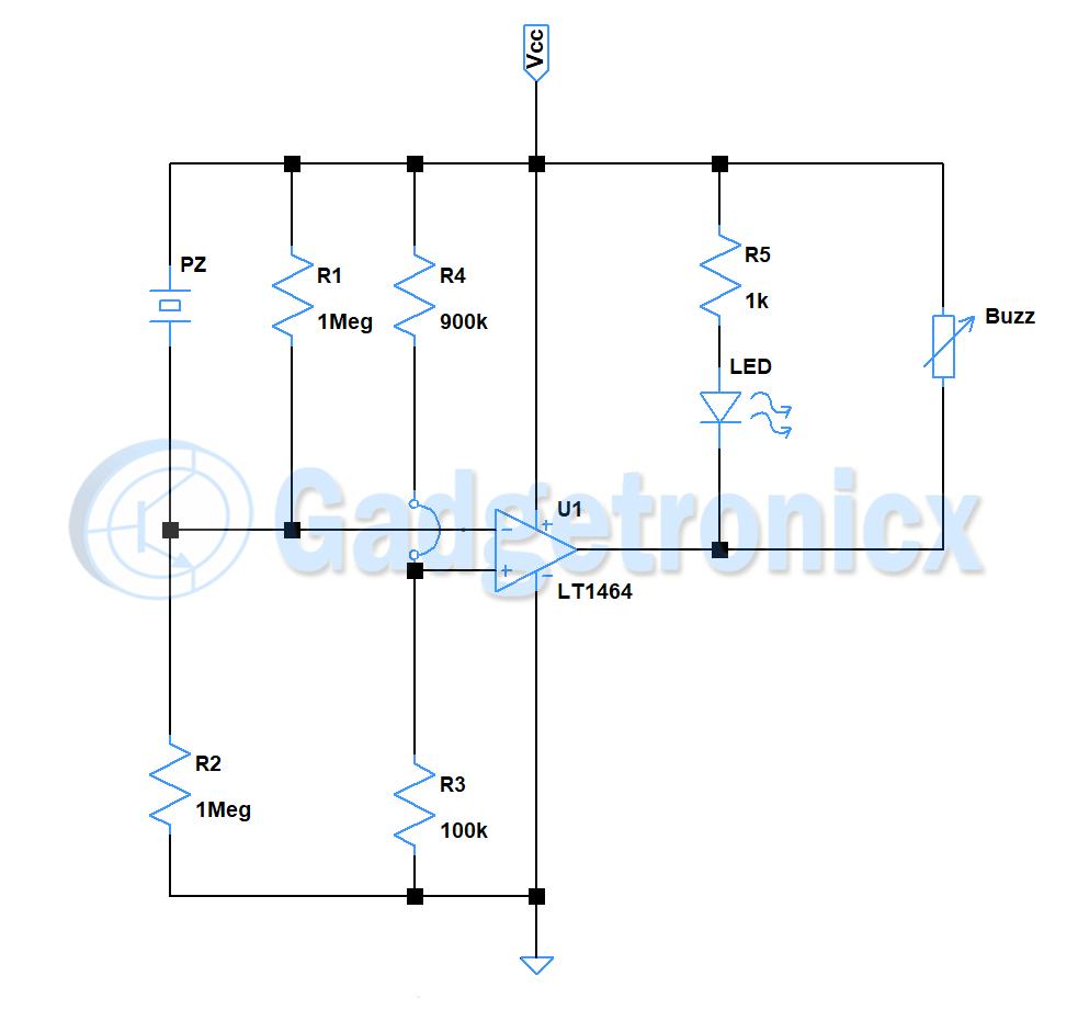Vibration sensor Alarm / Switch circuit - GadgetronicxGadgetronicx