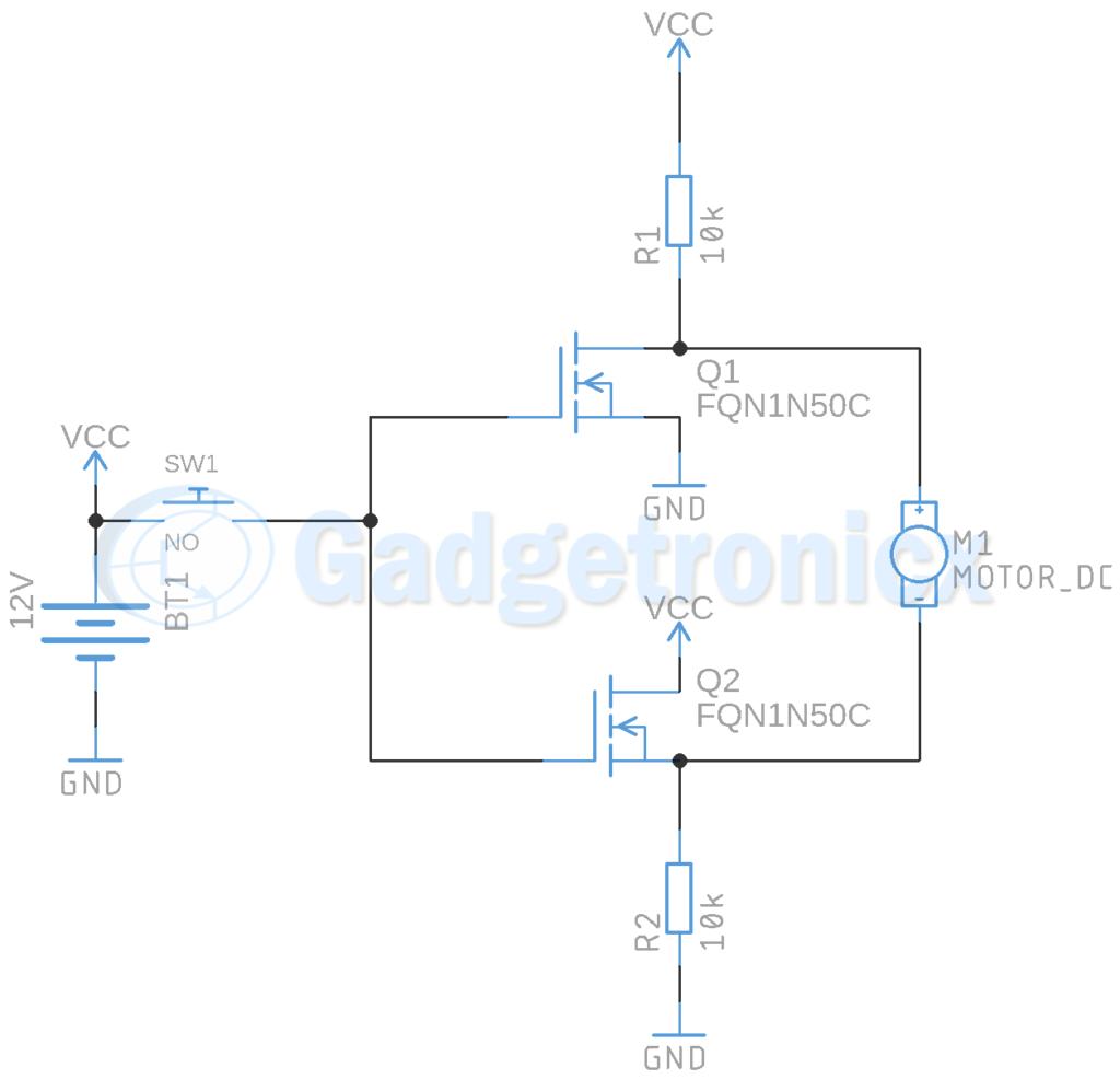 Motor Driver Circuit Using Mosfet Gadgetronicx