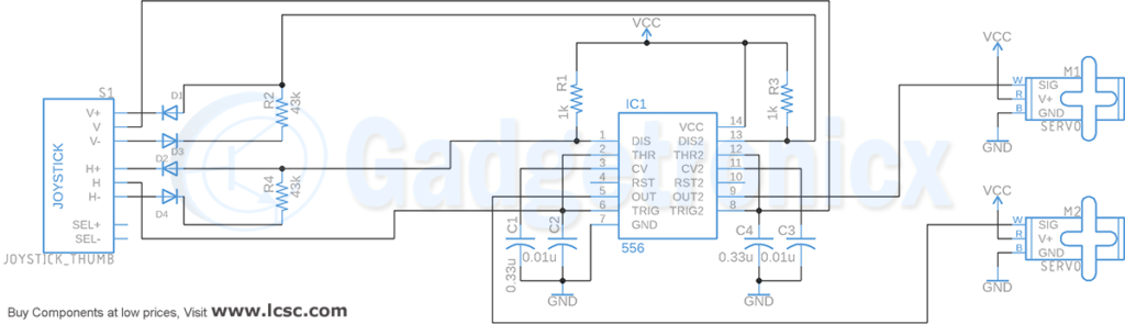 joystick-controller-servo-motor